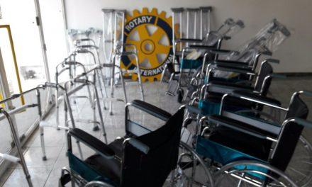 Rotary Club adquirió con lo recaudado en la Cata de Vinos varios elementos para el banco de órtesis