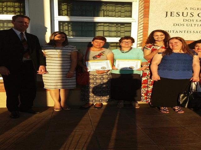 Ana Severo y Lucia Feleartigas fueron reconocidas por su labor solidaria por la iglesia Jesucristo de los Santos de los Últimos Días