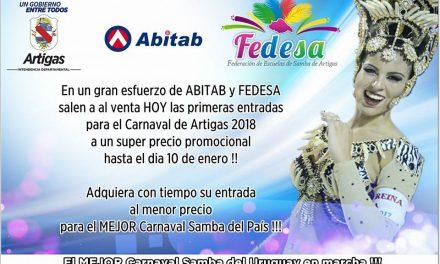ESTÁN A LA VENTA LAS ENTRADAS DEL CARNAVAL 2018