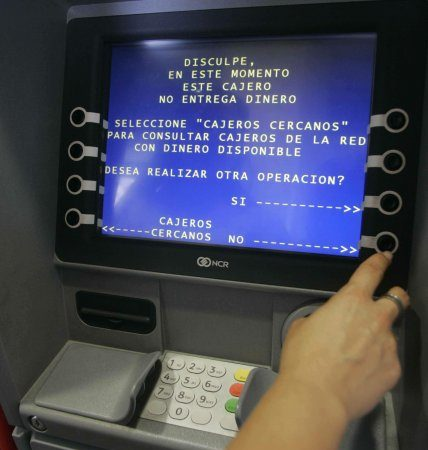 Cajeros colapsados