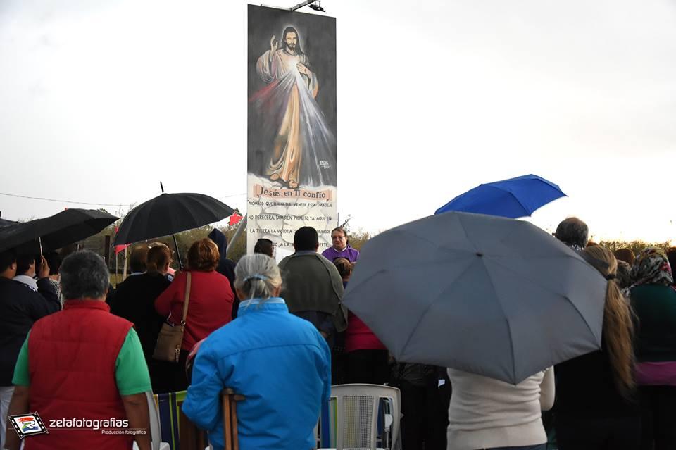 SE CUMPLIÓ UN AÑO DE LA INAUGURACIÓN DE LA IMAGEN DE JESÚS MISERICORDIOSO EN RUTA 4