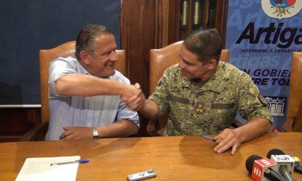 EL MINISTERIO DE DEFENSA ENTREGÓ EN COMODATO A LA INTENDENCIA EL PREDIO DE LAS CALLES WILSON FERREIRA ALDUNATE ESQUINA GARZÓN