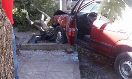 PERDIÓ EL CONTROL DEL AUTOMÓVIL Y CHOCÓ CONTRA EL EDIFICIO DEL  INJU