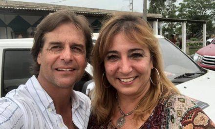 IRENE MOREIRA SE ALEJÓ DE LACALLE POU PARA ACOMPAÑAR A SU MARIDO