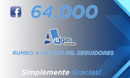 ¡Gracias! Ya superamos los 64 MIL seguidores en Facebook.