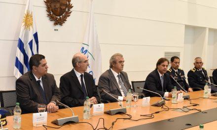 EL JEFE DE POLICÍA DE ARTIGAS, ALBERTO GONZÁLEZ, SE REUNIÓ CON EL PRESIDENTE Y MINISTRO DEL INTERIOR.