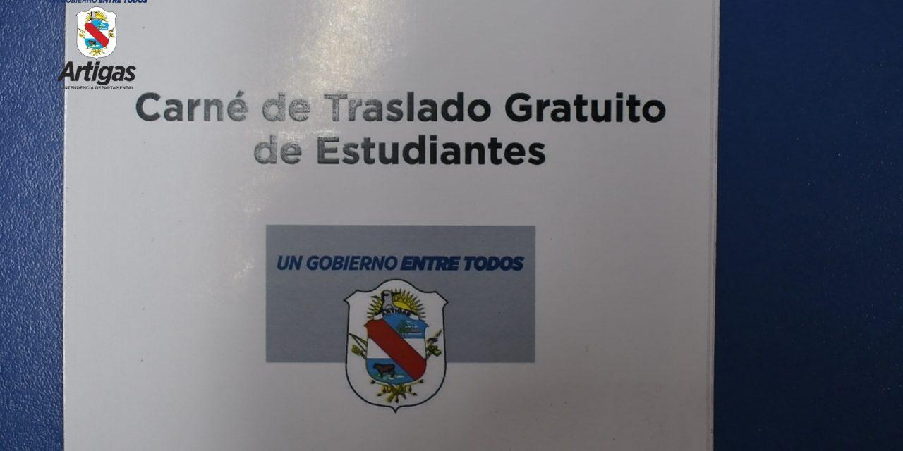 BOLETOS GRATUITOS PARA ESTUDIANTES QUE VIVAN EN QUARAI Y ESTUDIEN EN ARTIGAS.