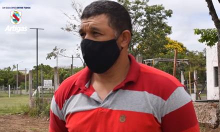 INTENDENCIA CONSTRUYE JUNTO A VECINOS UN ESPACIO PÚBLICO EN LA ZONA DEL FRONTÓN.