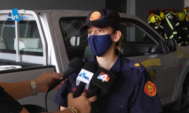 JEFA DE BOMBEROS REPASÓ LAS RECOMENDACIONES PARA EVITAR INCENDIOS FORESTALES Y DE CAMPO EN ARTIGAS.