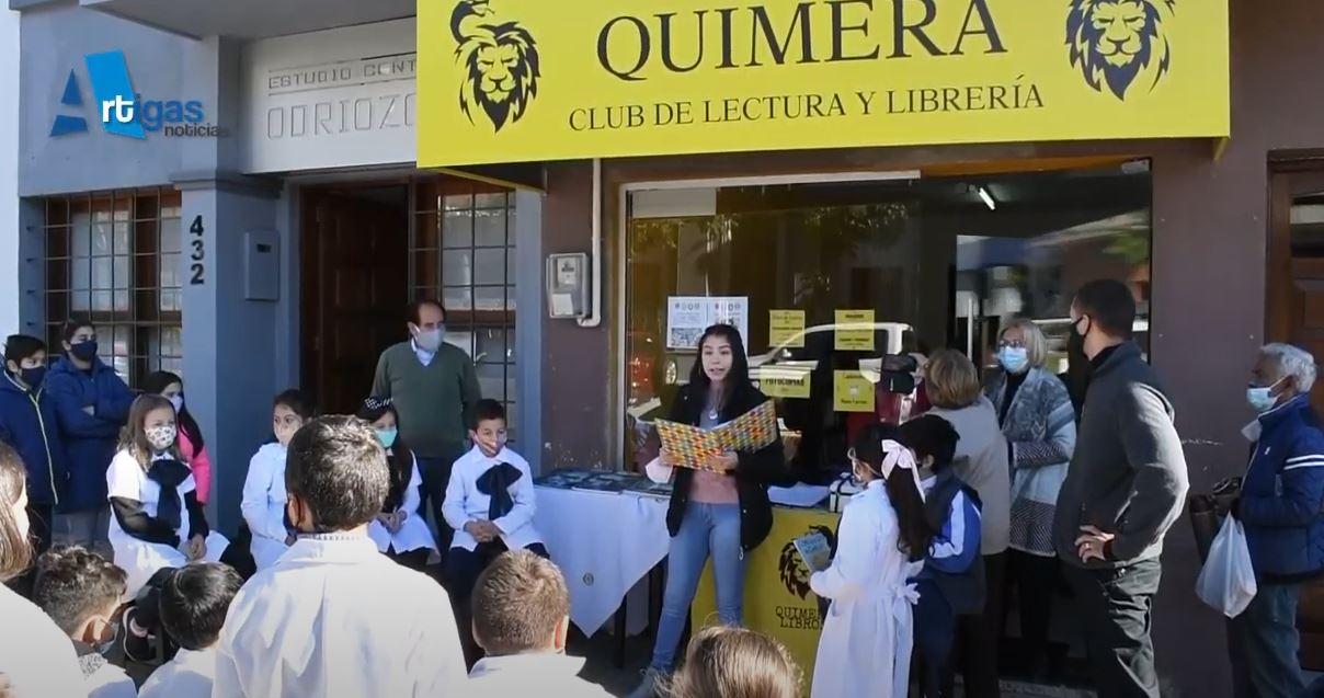ROTARY SEMBRADOR JUNTO A QUIMERA CELEBRARON EL DÍA DEL LIBRO. PARTICIPARON NIÑOS DE LA ESCUELA 37 Y SE REGLARON LIBROS A LOS PARTICIPANTES
