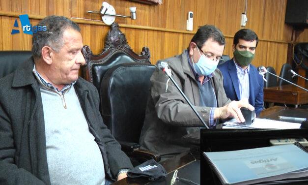En una hora la Junta Departamental de Artigas dió trámite anoche a la aprobación del Presupuesto Quinquenal de la Intendencia Departamental.